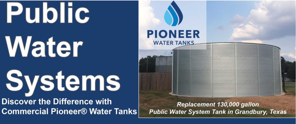 Pioneer Public water systems TCEQ water tanks