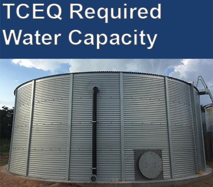 TCEQ water storage tank requirements for Texas