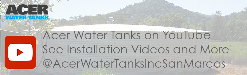 Acer Water Tanks youtube installation videos