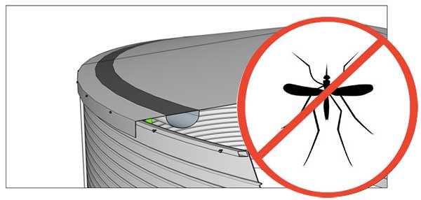 No mosquitos water storage