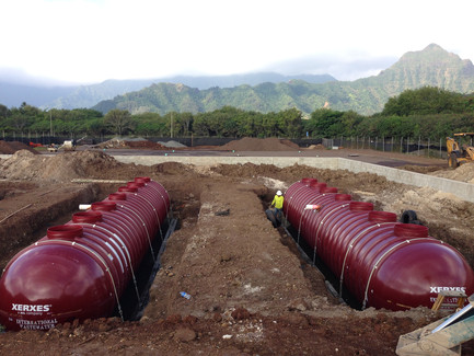 Maui water storage underground tanks