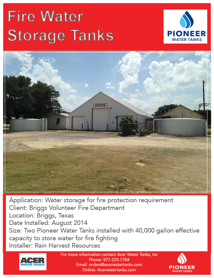 fire department water storage Pioneer water tanks  sc 1 st  Acer Water Tanks & casestudy_BriggsfiredepartmentSmall u2013 Acer Water Tanks