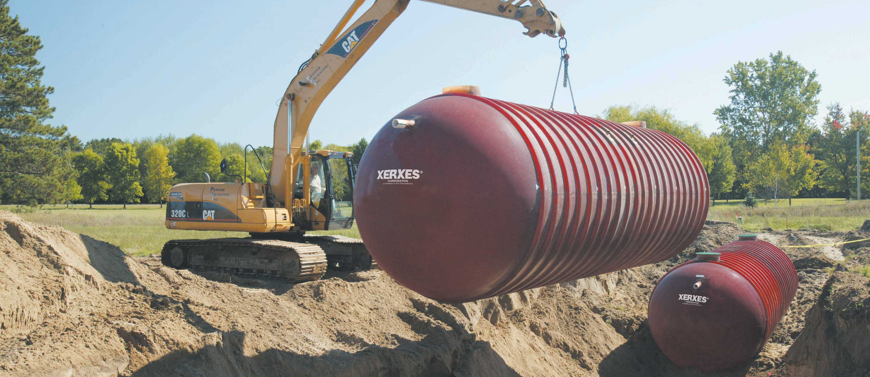 Commercial underground water storage XerXes tanks installations