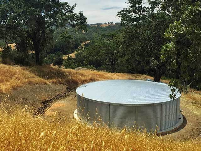 California fire protection water storage Watermark