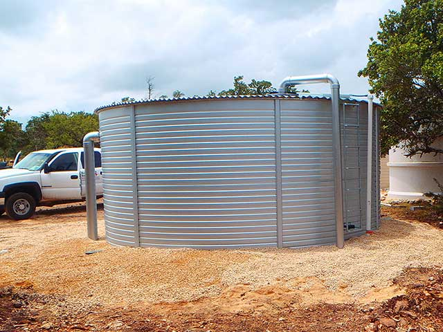 Well water storage tanks in Texas with Rainwater Systems
