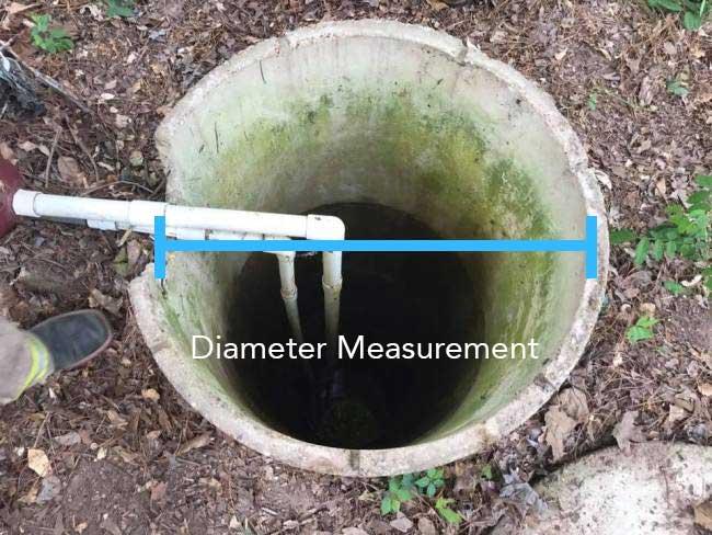 Water well volume calculator