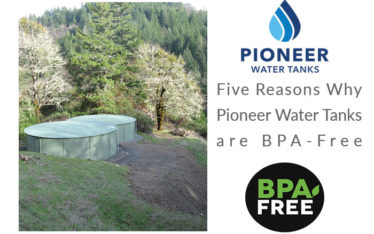 BPA free Pioneer Water Tanks drinking water storage