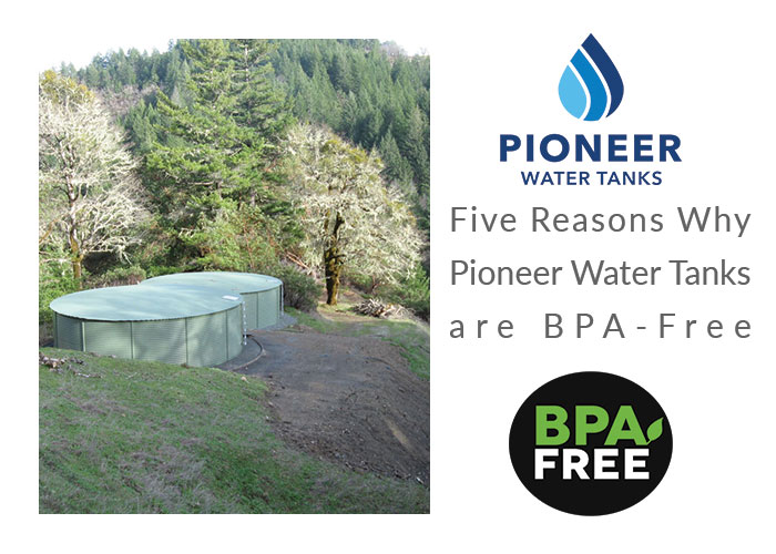 BPA free Pioneer Water Tanks drinking water storage