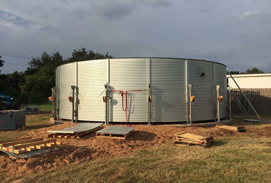 Water storage tank installations Pioneer
