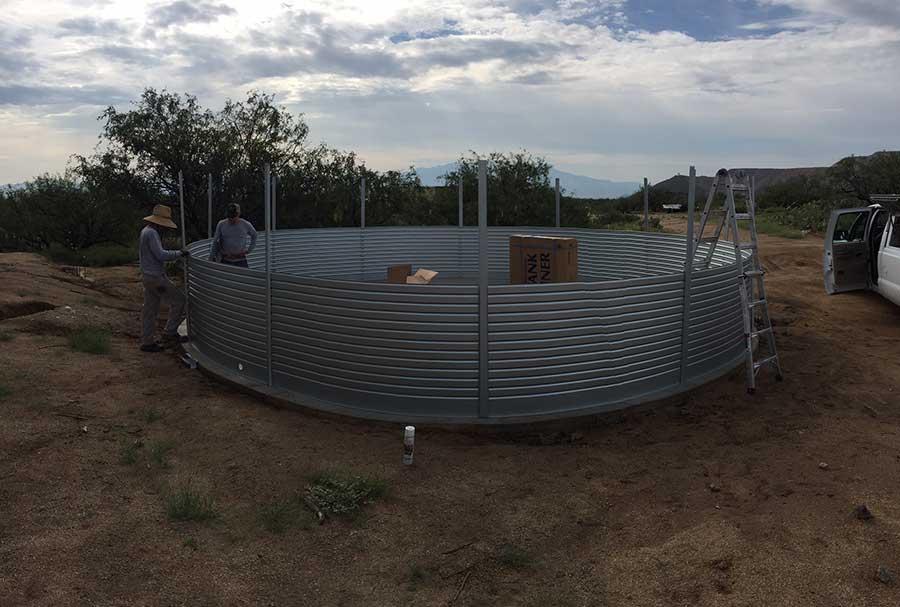 Water tank installs Water system installs