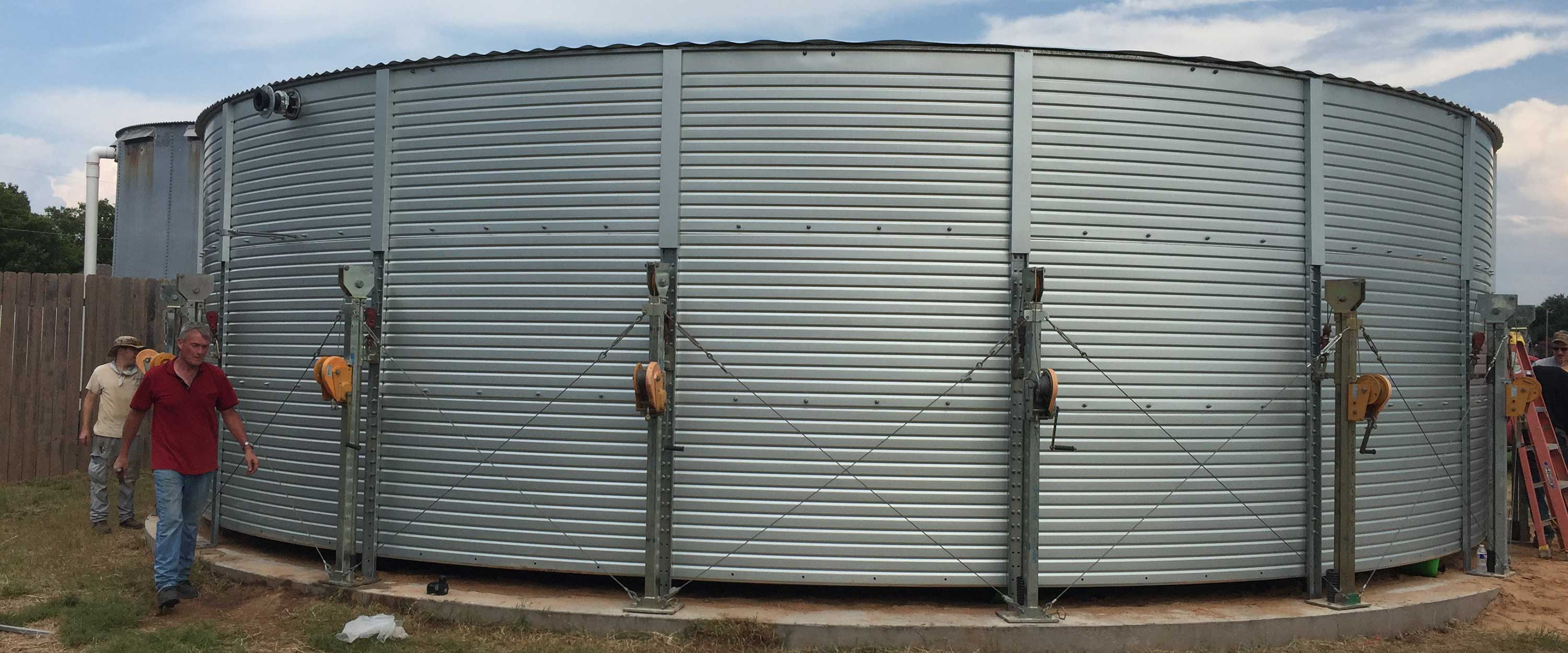 Water storage tank installations