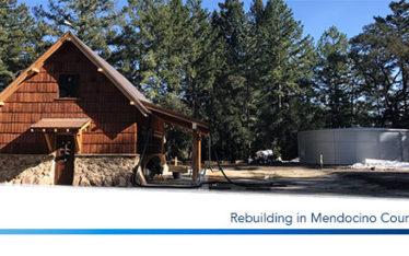 Rebuilding in Mendocino County